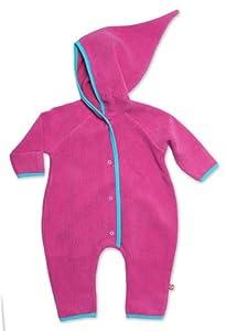 Zutano Infant Baby-Cozie Elf Romper, Fuchsia, 6 Months ( 0-6 months)