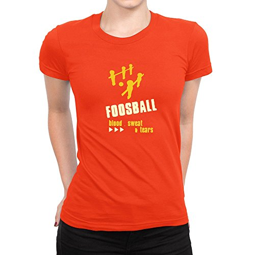 Idakoos-Foosball-BLOOD-SWEAT-TEARS-Sports-Women-T-Shirt