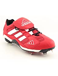 Adidas Excel Promo Lo Baseball Cleats Shoes Red Mens