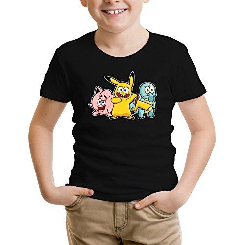 Jungen-Kinder-T-Shirt-Parodie-auf-Bob-Patrick-und-Carlo-von-SpongeBob-Schwammkopf-und-Pikachu-von-Pokemon-775