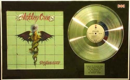 Motley Crue-LP-Platinum CD & Cover Dr Feelgood