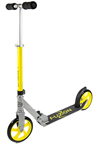 fuzion-cityglide-adult-kick-scooter-220lb-weight-limit-folds-down-adjustable-handle-bars-smooth-fast