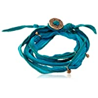 [ブロンウェン] bronwen Silk Ribbon Wrap 1001BDark Aqua