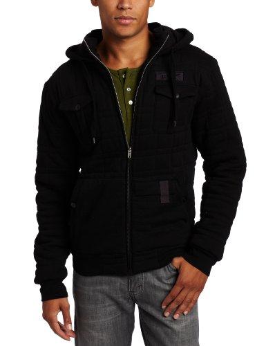 Tavik Men's Arctic Heavy Fleece Zip Hoodie, Black, Medium