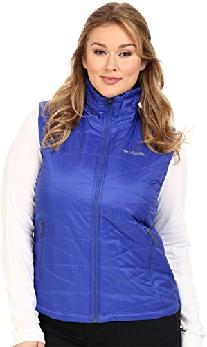 Columbia Sportswear Women's Plus Mighty Lite III Vest, Light Grape, 1X Quilted Thermal Vest