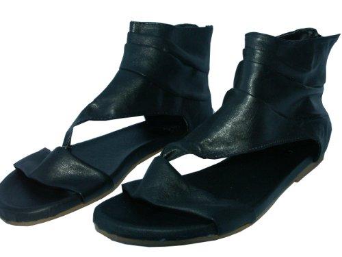 Women's Girls Black Cuff Sandals UK 4 or UK 8