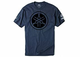 Factory Effex 'YAMAHA' Tuning Fork T-Shirt (Charcoal, Medium)