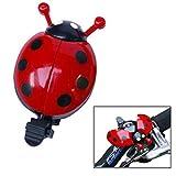 サイクリング自転車汎用キッドおかしいかわいいベルリング乗馬バイクてんとう虫リングベル (赤)