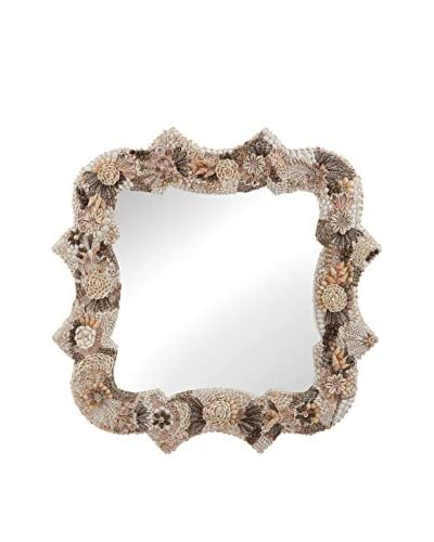 Artistic Lighting Square Antoinette Shell Mirror, Natural As You See
