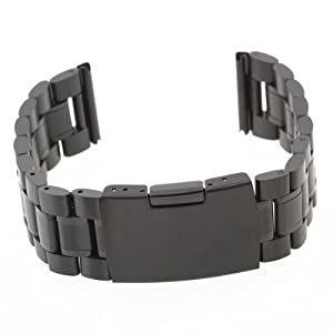 Pulsera Correa Acero Color Negro Repuestos para Reloj Watch Strap marca bsupermart