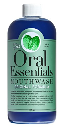 Oral Essentials Mouthwash for Fresher Breath, Dentist Formulated, Alcohol Free, Sugar Free with NO Dyes, Preservatives or BPA. Non Toxic (Great Tasting and No Burning or Stinging) 16 Oz. (Organic Raw Aloe Vera Juice compare prices)