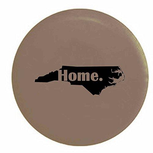 North Carolina Home State Edition RV Spare Tire Cover OEM Vinyl Tan 30 in (North Carolina Tire Cover compare prices)