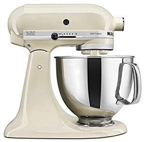 kitchenaid ksm150psac artisan series 5 quart mixer almond cream