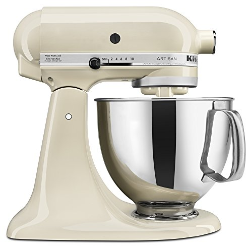 KitchenAid KSM150PSAC Artisan Series 5-Qt. Stand Mixer with Pouring Shield - Almond Cream (Cream Kitchenaid Mixer compare prices)