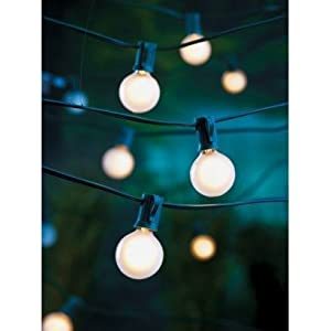 Amazon Com 25 Ct Frosted G40 Globe String Lights
