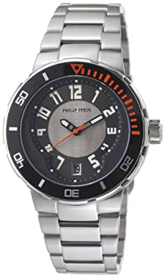 Philip Stein Men's 34-BGR-SS Extreme Stainless-Steel Strap Watch