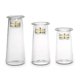 one partylite symmetry trio candle holder set kitchen home. Black Bedroom Furniture Sets. Home Design Ideas