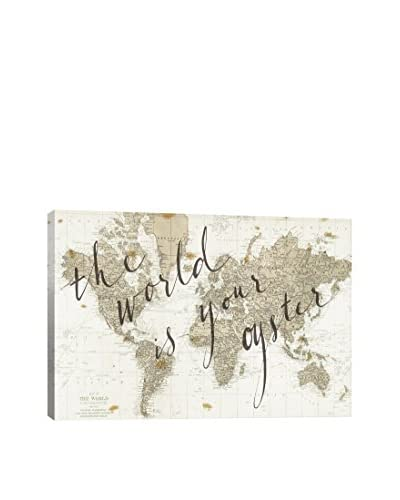 Sara Zieve Miller The World Is Your Oyster Canvas Print, Multi, 18 x 26