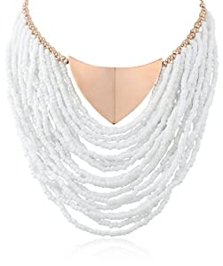 """Vince Camuto Seed Bead Swag Strand Necklace, 16"""""""