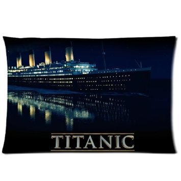 New Arrival Pillowcases Cover Titanic Ship Throw Soft Pillowcases Decorative Pillowcases Best Birthday Gift For Kids Or Friends Rectangle Cotton Pillowcase Art Design Pillow Cover Pattern Personalized Pillowcases Standard Size Roomy Inch 20*30 inches(Two Sides) Great Gifts For Easter Day
