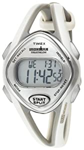 Timex Women's T5K026 Ironman Sleek 50-Lap Light Gray Resin Strap Watch