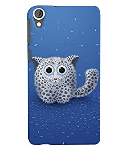 HTC Desire 820 Innocent Kitty Blue Mobile Cover