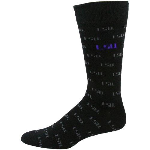 Cheap NCAA LSU Tigers Black Logo Mid-Calf Dress Socks (B00445H62W)