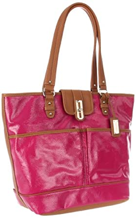 Nine West Shine Time Tote,Iris/Cognac,One Size