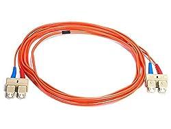 Fiber Optic Cable_ SC/SC_ OM_ Multi Mode_ Duplex - 2 meter (62.5/125 Type) - Orange