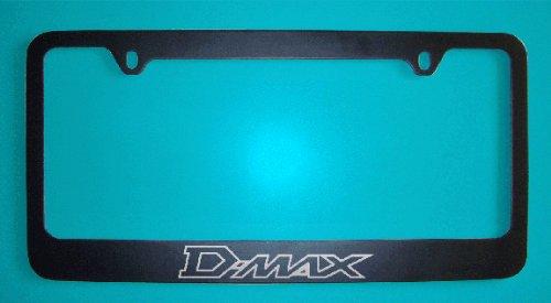 Isuzu D Max Black License Plate Frame (Zinc Metal)