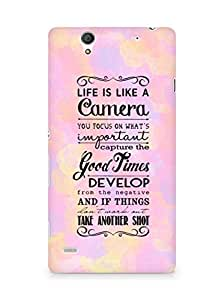 AMEZ life is like a camera Back Cover For Sony Xperia C4