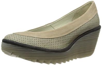 Fly London Womens Yoko Perf Fashion Sandals P500398018 Khaki/Light Grey/Black 3 UK, 36 EU