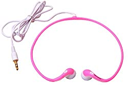 Mega Sale Hangout Sport Curve Stereo Headphones Wired Headset (Pink)