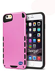 buy Iphone 6S Case, Nancy'S Shop Premium Dual Layer Non-Slip Ultra Hybrid Slim Fit Armor Series Shock Absorbent Scratch Resistant Durable Bumper Hard Back Cover For Iphone 6 / 6S 4.7 Inch Devices (Pink)