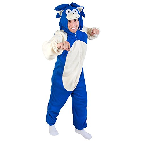 Adult Blue Hedgehog Costume (Size: Standard 44)