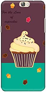 The Racoon Grip Cupcakes hard plastic printed back case/cover for Coolpad Max