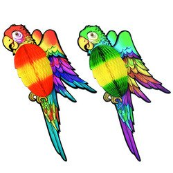 Beistle 55300 Packaged Tissue Parrots, 30-Inch (Parrot Party Supplies compare prices)