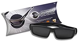Plastic Eclipse Glasses- Safe Solar Viewer - Eclipse Shades- Black - ISO Certified