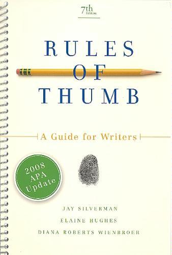 rules of thumb a guide for writers pdf