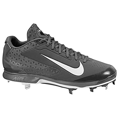 Men's Nike Air Huarache Pro Low Metal Baseball Cleat Graphite/White Size 15