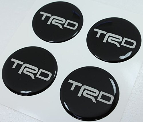 Toyota TRD 60 Mm Black Resin Sticker Decals Center Wheel Caps Cover Hub Rim (Trd Resin compare prices)