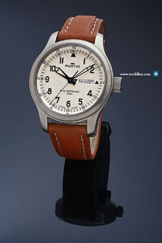 Fortis 645.10.12 L 01 - Orologio uomo automatico B-42 FLIEGER DAY-DATE 42mm