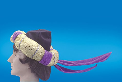 Star Power Aladdin Arabian Prince Costume Hat Purple One Size