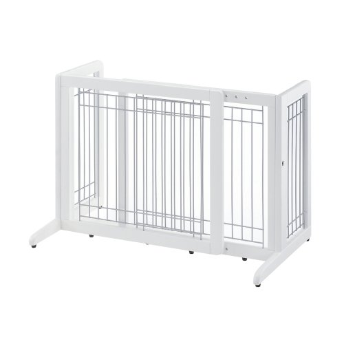 richell-freestanding-pet-gate-small-origami-white