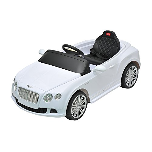 Bentley Gtc Kids 12V Electric Ride On Toy Car W/ Parent Remote Control - White