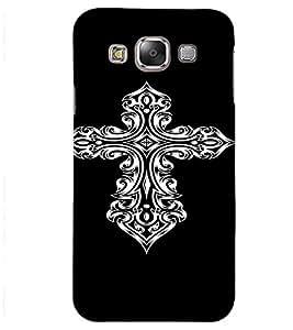PrintVisa Tribal Art Cross Design 3D Hard Polycarbonate Designer Back Case Cover for Samsung Galaxy J2