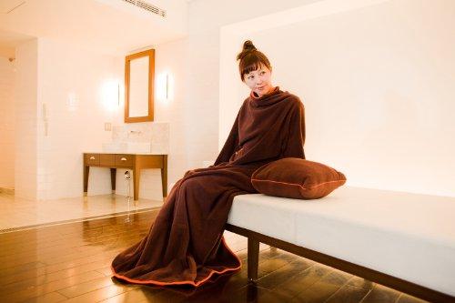 ヌックミィ/NuKME 着る毛布 180cm (男女兼用フリーサイズ) スタンダードガウンケット ブラウン