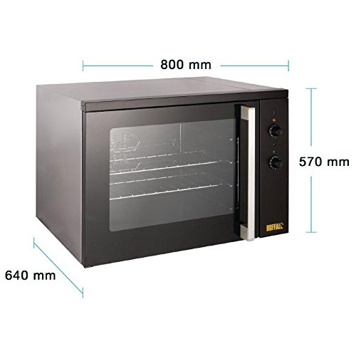 Buffalo Convection Oven 100Ltr 580X800X600mm Kitchen Roasting And Heating Warm