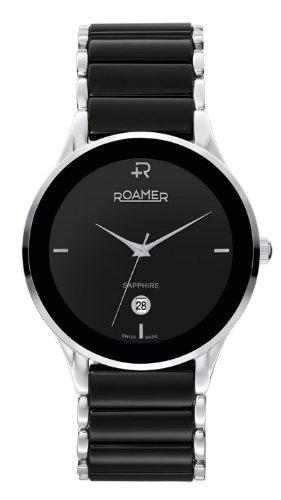 Roamer of Switzerland Men's 677972 41 55 60 Saphira Black Ceramic Stainless Steel Date Watch