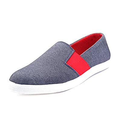 KNOOS Men's Grey Canvas Shoes